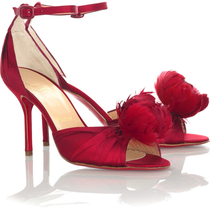 Christian Louboutin Rosazissimo feather shoes