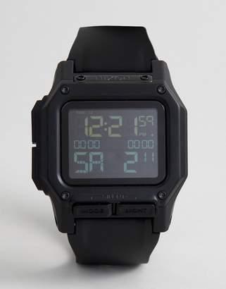 Nixon Regulus Digital Silicone Strap Watch In Black