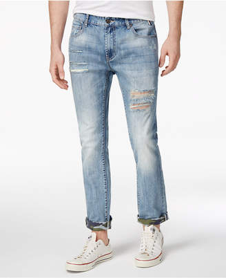American Rag Men's Camo Cuff Ripped Jeans, Created for Macy's