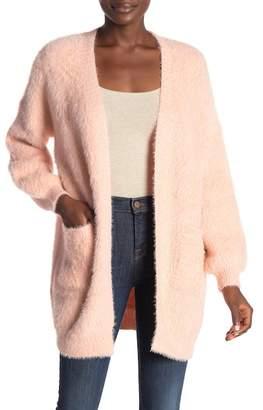 Very J Fuzzy Knit Cardigan