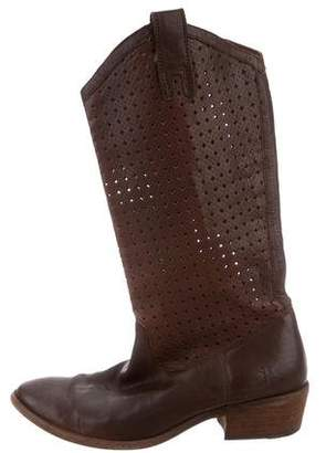 Frye Laser Cut Mid-Calf Boots