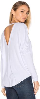 Chaser V Back Oversized Shirttail Dolman Tee $70 thestylecure.com