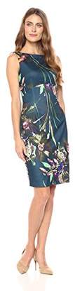 Ellen Tracy Women's Floral Scuba Dress