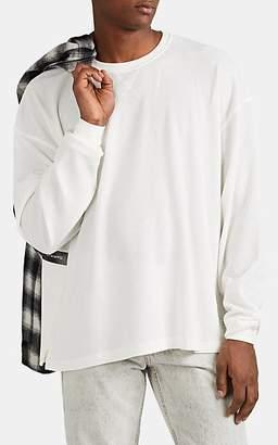 Stampd Men's Waffle-Knit Oversized Long-Sleeve T-Shirt - White