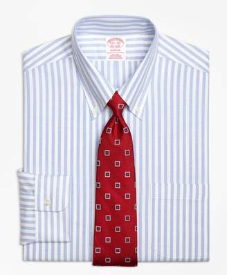 Brooks Brothers BrooksCool Madison Classic-Fit Dress Shirt, Non-Iron Wide Stripe