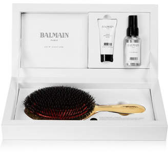Couture Balmain Paris Hair Large Gold-plated Spa Brush Set