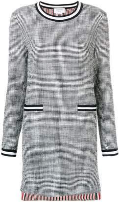 Thom Browne Textured Tweed Shift Dress