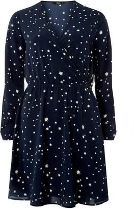 Dorothy Perkins Womens **Navy And White Star Print Dress