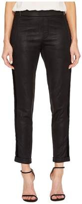 The Kooples Leather Effect Sport Pants with Zip Women's Casual Pants