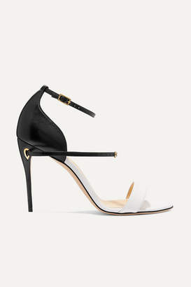 Jennifer Chamandi - Rolando Two-tone Leather Sandals - White