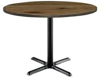 """LOFT KFI seating Urban 36"""" Round Top Table, Natural, Black X Base, 29"""" H"""