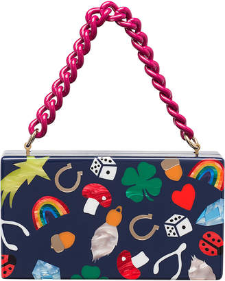 Edie Parker Jean Lucky Charms Clutch Bag