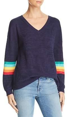 Honey Punch Rainbow-Sleeve Sweater