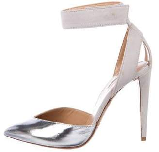 Emporio Armani Pointed-Toe Ankle Strap Pumps