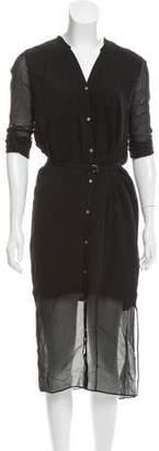 Helmut Lang Silk Shirt Dress