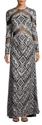 Tadashi Shoji Sequin Floor-Length Gown