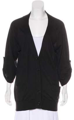 Vince Long Sleeve V-Neck Cardigan
