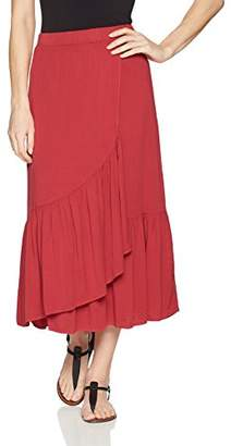 Michael Stars Women's Rylie Rayon Wrapped midi Skirt