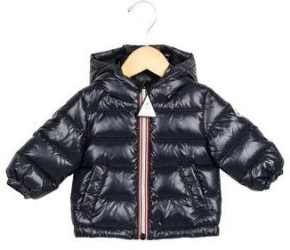 Moncler Boys' Puffer Hooded Jacket w/ Tags $335 thestylecure.com
