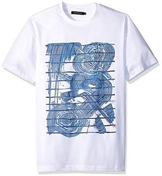 Bugatchi Men's Single Mercerized Cotton Jersey Swirl T-Shirt