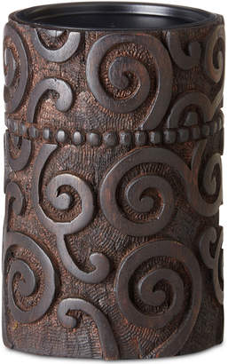 Jla Home Ink & Ivy Pacheco Carved Wood & Iron Medium Candle Holder