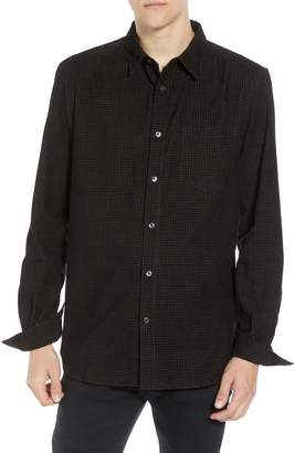 French Connection Regular Fit Mini Check Corduroy Shirt
