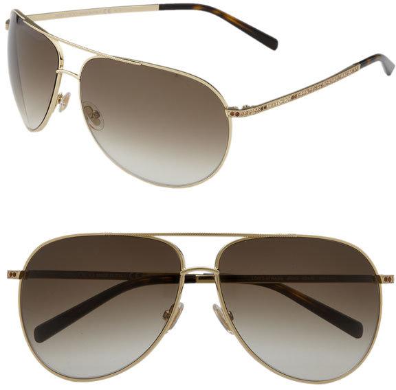 Jimmy Choo 'Loh' Metal Aviator Sunglasses