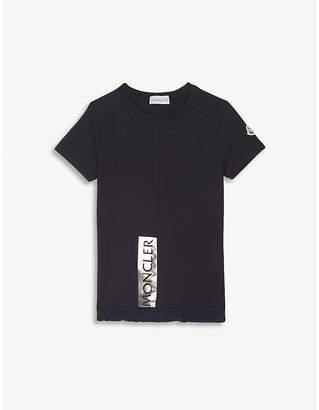 Moncler Frilled-hem logo cotton-jersey T-shirt 4-14 years