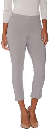 Halston H By H by Petite VIP Ponte Crop Leggings with Seam Detail