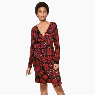 Desigual Wrapover Mix Floral Print Dress
