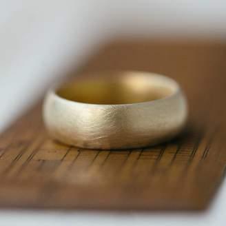 Gents Alison Macleod Wide Soft Pebble Wedding Ring