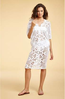 Miguelina Kate Scallop Lace Essential Coverup
