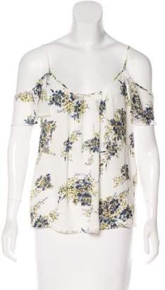 Joie Printed Silk Blouse