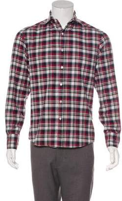 Michael Bastian Plaid Button-Up Shirt