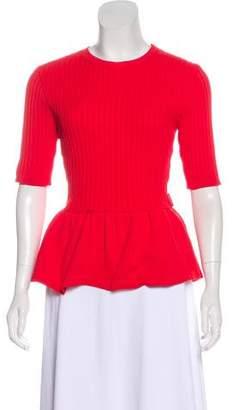 Moncler Peplum Waist Sweater