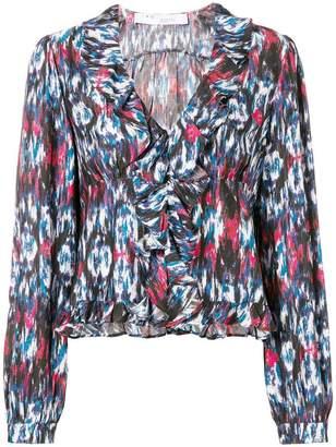 IRO ruffled neck blouse