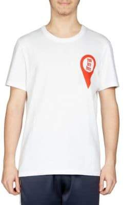 Ami You Are Here Cotton Graphic Tee