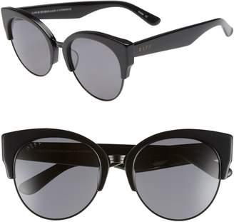 Cat Eye DIFF Stella 55mm Polarized Sunglasses