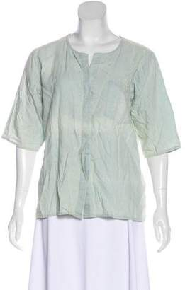 Frame Button-Up Linen Blouse w/ Tags