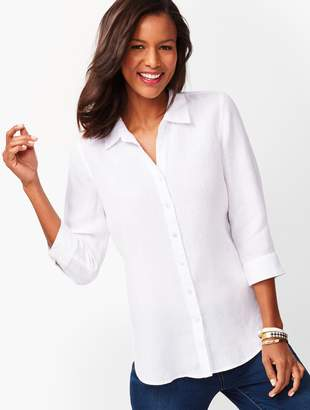 Talbots Button-Back Linen Tunic