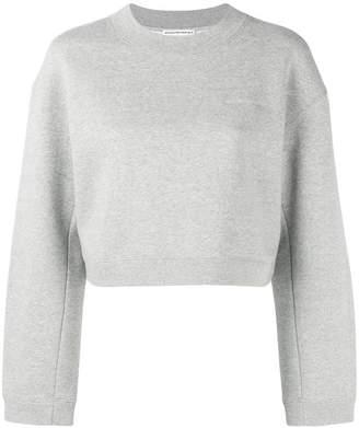 Alexander Wang logo embroidery cropped sweatshirt