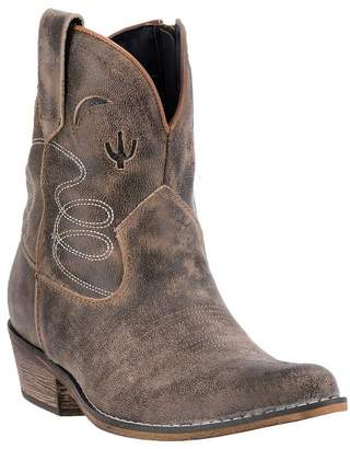 Dingo Womens Adobe Rose 7in Cactus Leather Cowboy Boots 8 M