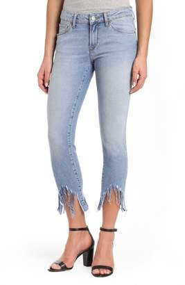 Mavi Jeans Adriana Sharkbite Fringe Super Skinny Jeans