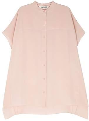 Diane von Furstenberg Blush Silk Crepe De Chine Shirt