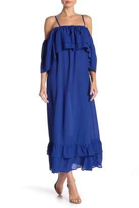 LOST INK Ruffly Bust Maxi Dress