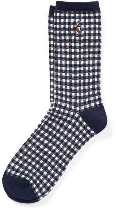 Ralph Lauren Gingham Trouser Socks