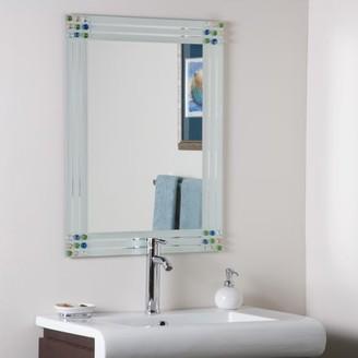 Décor Wonderland Bejeweled Frameless Bathroom Mirror