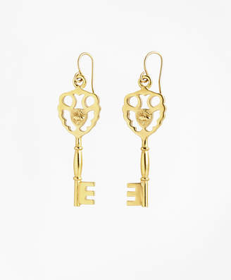 Brooks Brothers Gold-Plated Key Drop Earrings