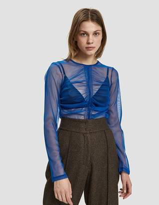 Freya Need Long Sleeve Mesh Tee in Cobalt