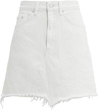 White Denim A Line Skirt - ShopStyle 069c01bde